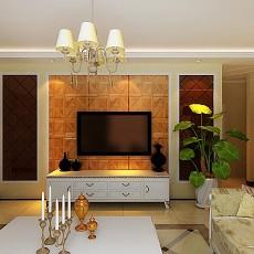 复古风格设计客厅效果图