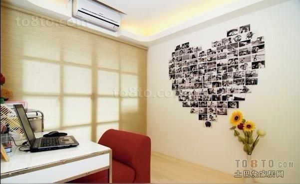 书房心形照片墙装修效果图