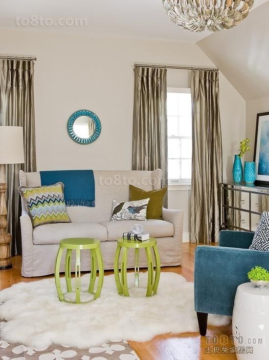 小客厅窗帘装修图片