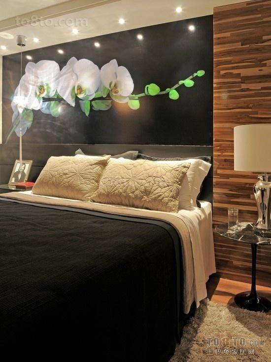 现代简约卧室背景墙装修效果图欣赏