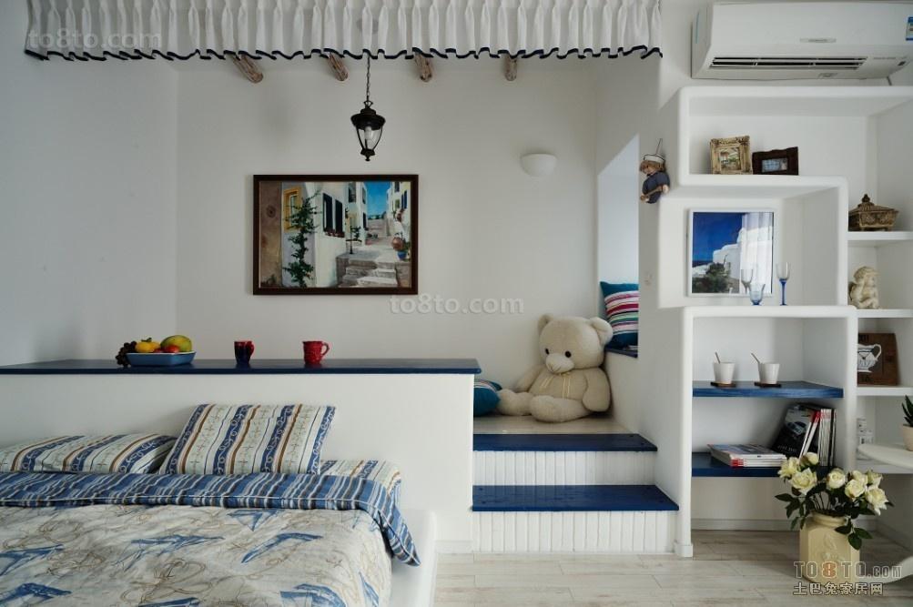 2014清淡素雅的地中海风格卧室背景墙