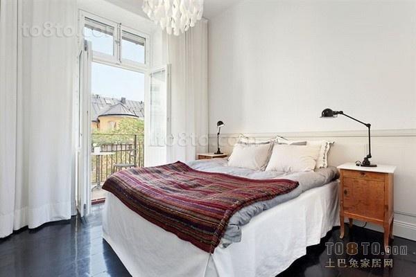 北欧风格80平米小户型婚房卧室装修效果图大全2014图片