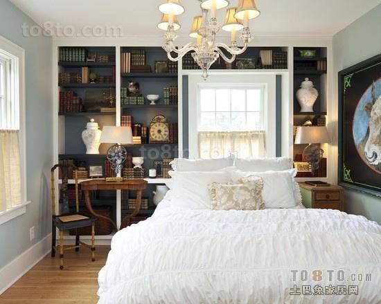 美式卧室储物背景墙