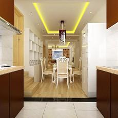 开放式整体小厨房装修设计效果图