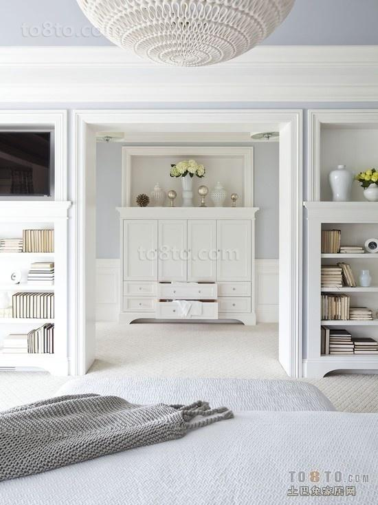 白色简洁复式客厅玄关装修效果图大全2014图片