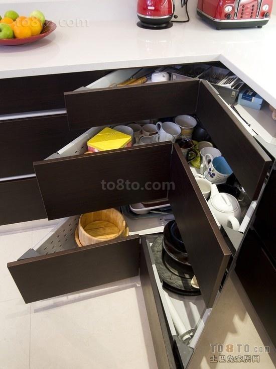 小户型创意厨房收纳柜图片