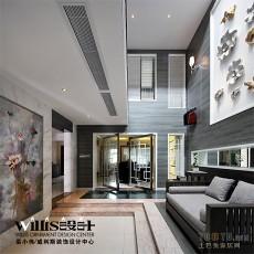 热门面积124平复式客厅现代装修效果图片欣赏