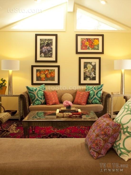 东南亚风格两室两厅客厅装修效果图