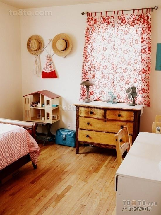 东南亚风格儿童房窗帘效果图片
