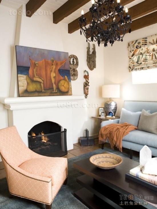 现代客厅装修效果图 壁炉温暖你的家