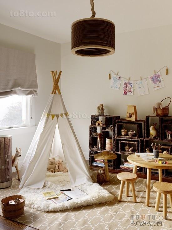 日式风格帐篷儿童房装修效果图大全