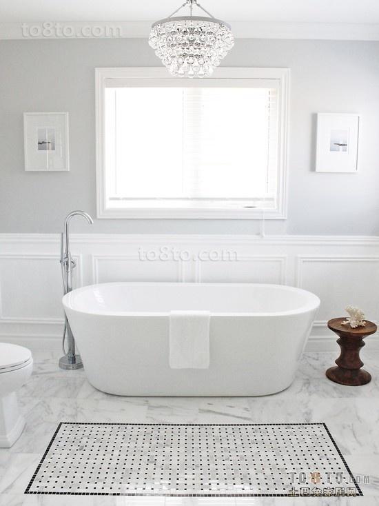 白色北欧风格小户型卫生间装修效果图大全2014图片