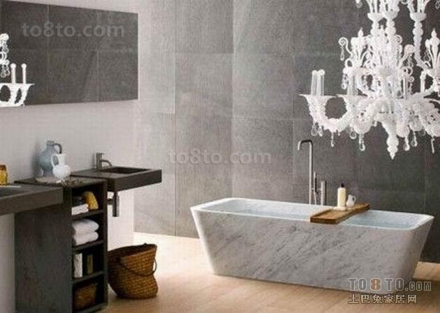 灰色调打造深沉的卫生间装修效果图
