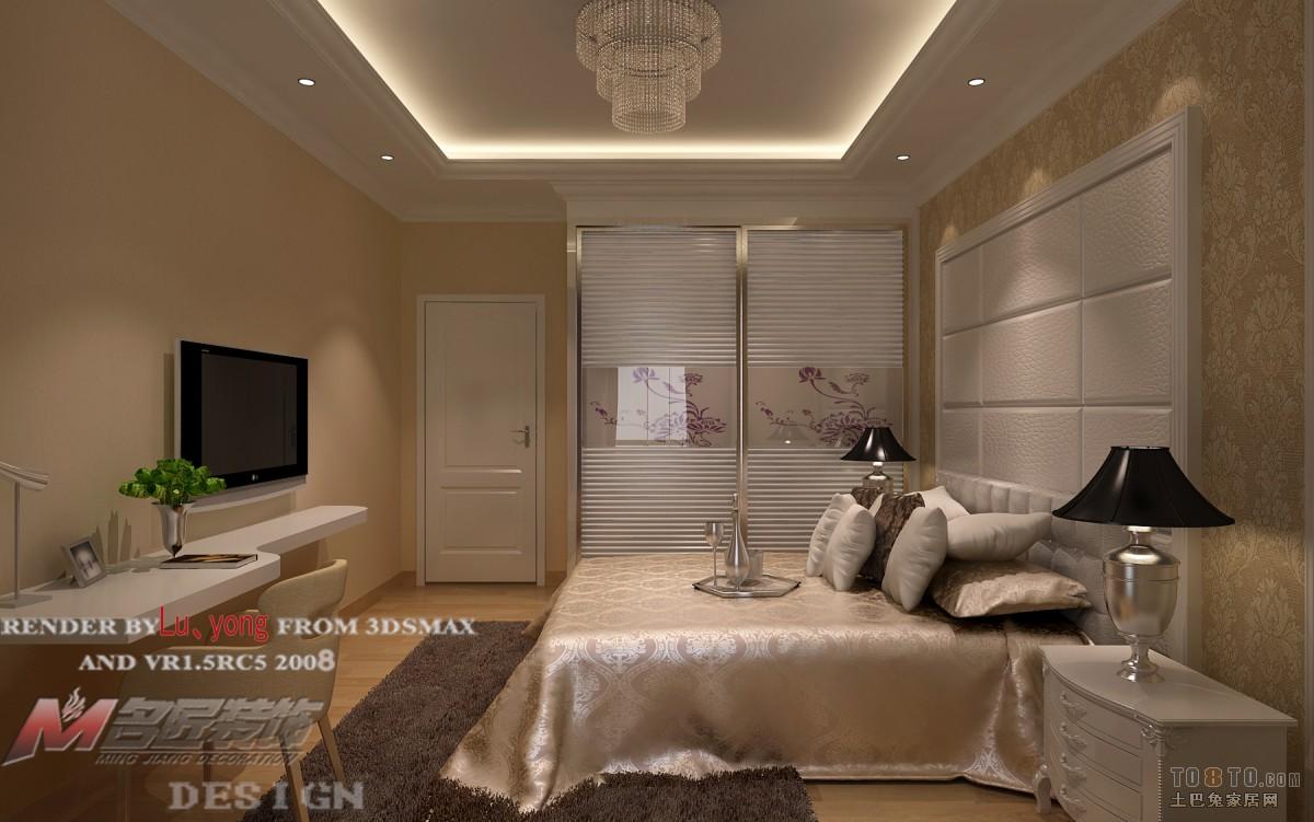 现代风格卧室床头背景图片