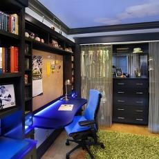 整体书柜书房设计效果图
