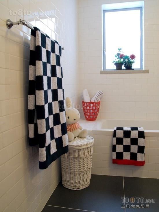 二居室卫生间装修效果图 大方简约