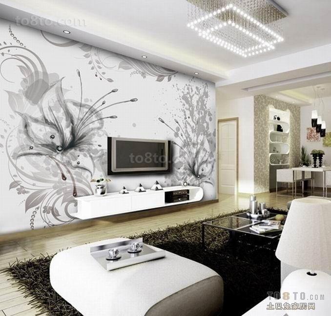 客厅手绘电视背景墙装修效果图