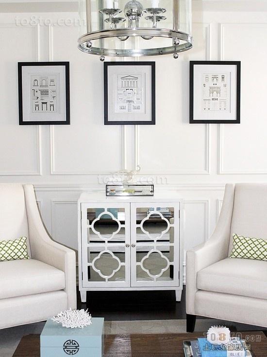 50平米小户型装修 白色客厅沙发装修效果图