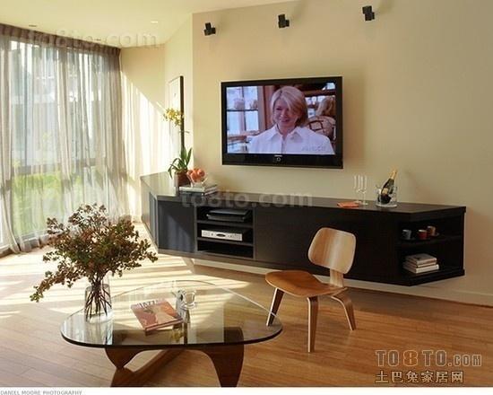简约客厅电视背景墙装修设计效果图