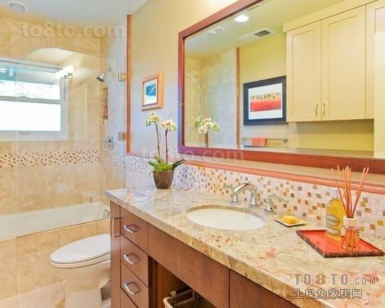 色彩斑斓的卫生间瓷砖装修效果图2012