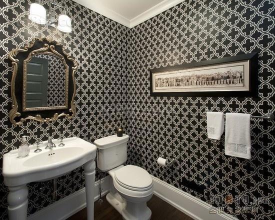小三居现代时尚卫生间装修效果图