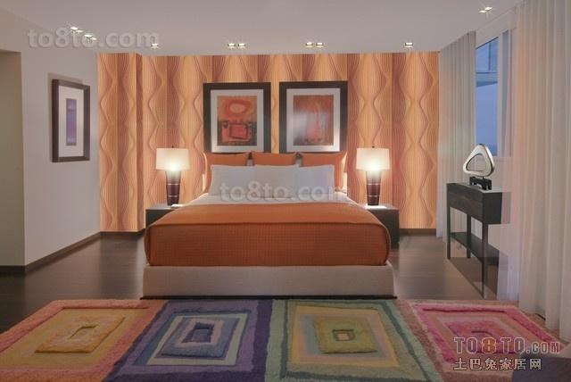 色彩饱和的小三居卧室装修效果图大全2013图片