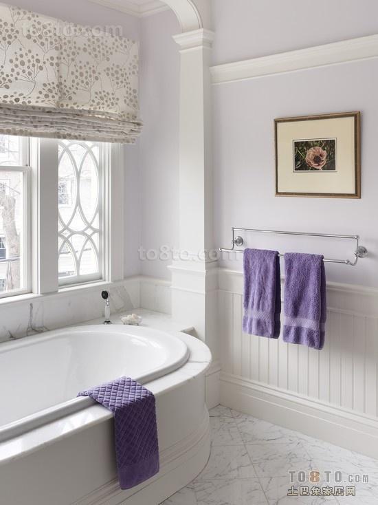白色小清新卫生间装修效果图大全2014图片