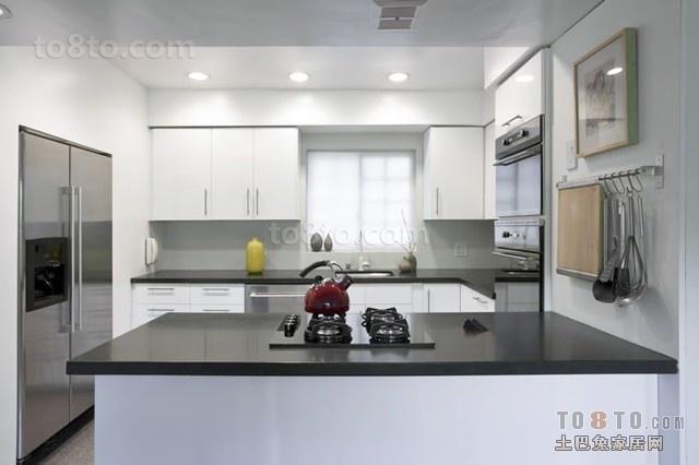 时尚简约型厨房装修效果图