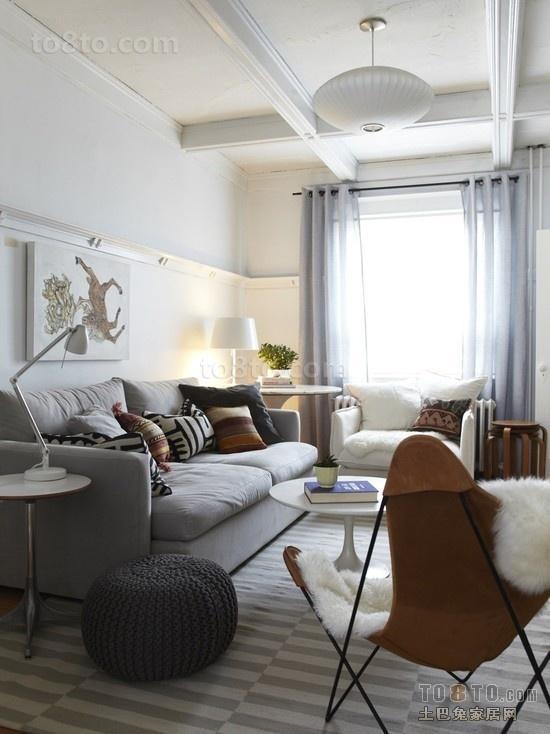 北欧风格客厅吊顶图片