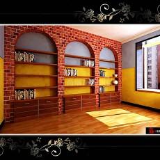 复古风格书房装修图片