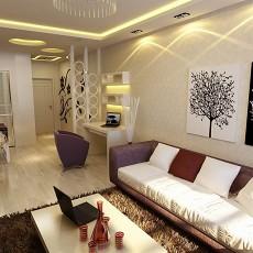 2018精选96平米三居客厅现代装修效果图