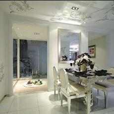 精美大小107平欧式三居餐厅装饰图片大全