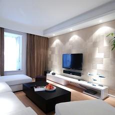精选99平米三居客厅现代装修实景图片欣赏