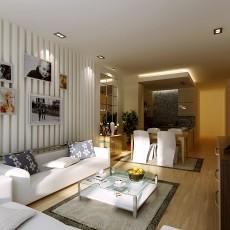 精美面积84平简约二居客厅装修效果图片大全