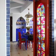 热门面积94平地中海三居玄关装修设计效果图片大全