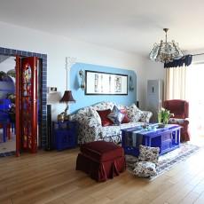 地中海三居客厅装修欣赏图