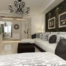 精美81平米二居客厅现代设计效果图