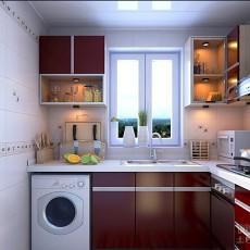 精选79平米简约小户型厨房装修实景图片欣赏