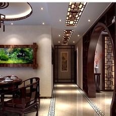 热门108平米三居餐厅中式效果图