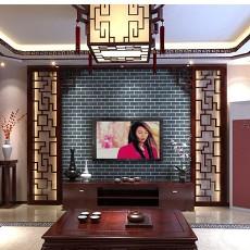 精美面积103平中式三居客厅效果图片