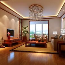 2018精选面积101平中式三居客厅装修图片大全