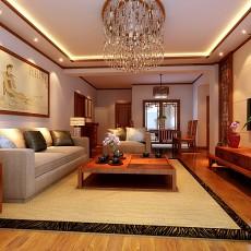 热门大小90平中式三居客厅装修设计效果图片大全