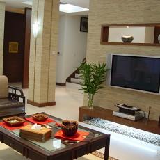 103平米三居客厅中式设计效果图