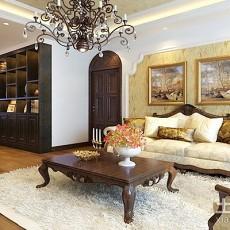 精美面积100平欧式三居客厅装修设计效果图片大全