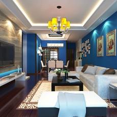 精美地中海三居客厅装修图片欣赏