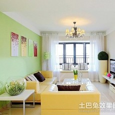 热门面积123平复式客厅田园实景图片