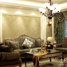 精选面积81平欧式二居客厅效果图片大全