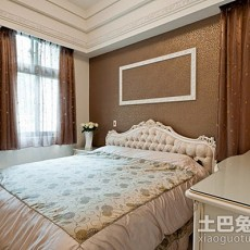 2018精选面积109平欧式三居卧室装修效果图片欣赏