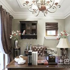 112平米欧式别墅书房装修图片