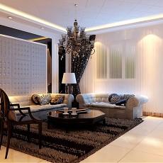 精美103平客厅三居现代装饰图片大全